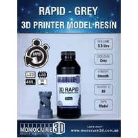 Monocure 3D RAPID RESIN - GREY (0.5 Ltr)