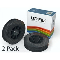 2 Pack of UP Black ABS 1kg 1.75mm